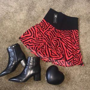 NWT Kardashian Kollection Black and Red skirt